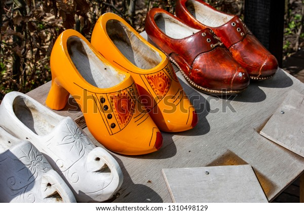 Different Kinds Traditional Dutch Wooden Shoes Stock Photo Edit Now