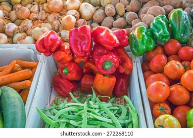 Different kinds of vegetables for sale at a market