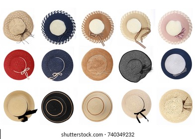 Different Ladies Hat. Top View