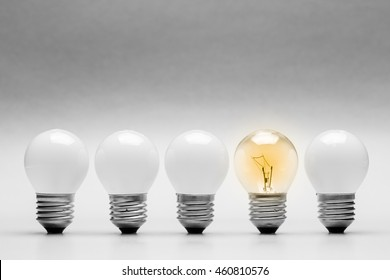 Different light bulb in the row