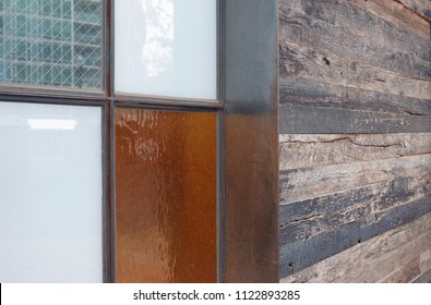 Different materials on the exterior of a building