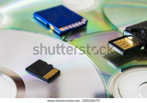 different media storage, sd card and pen