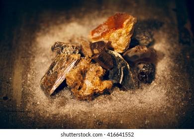 Different minerals slices