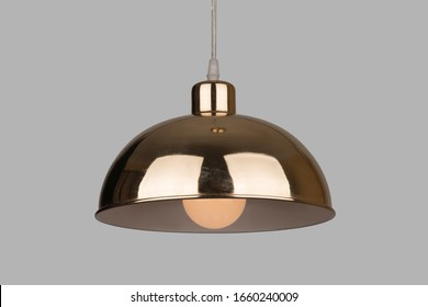 Different modern streamlined mirror copper chandeliers. Bubble metal copper shade pendant . Ceiling Light