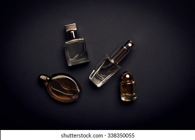 different perfume bottles