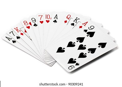 different playing cards