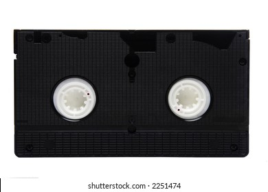 Different shots of a VHS tape, isolated on white background.