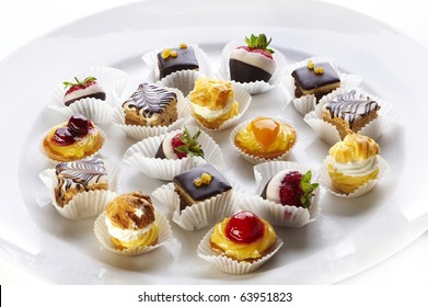 Different sort of small home made sweet cakes