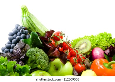 Different sorts of vegetables,fresh fruit and spicy herbs