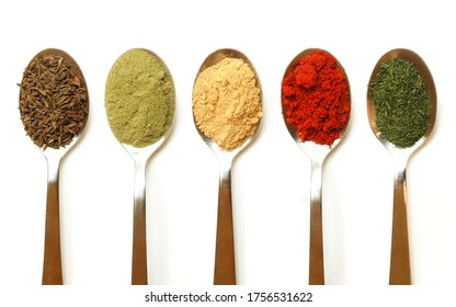 Different spices (desi masalas) mostly used in middle east
