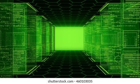 different stages and way in green background