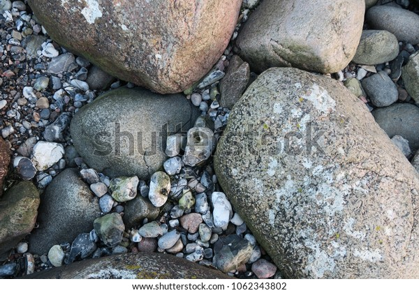 different stones at the beach