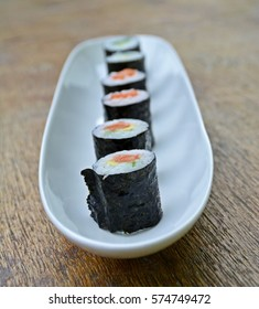 Different Sushi in a row