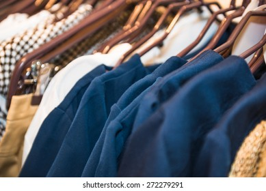 different things and goods from clothing store