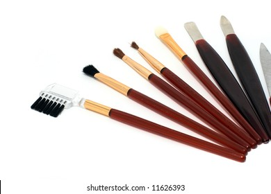 Different tools for make-up and manicure