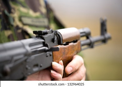 Different types of automatic rifle guns,chains and assault weapons