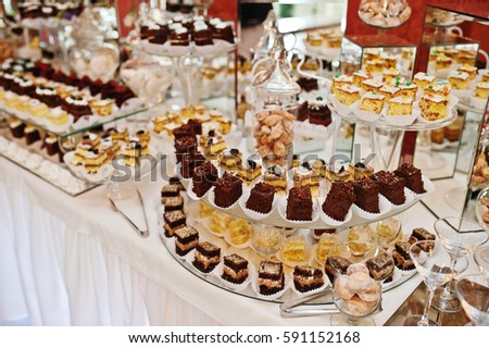 Different Types Cakes Baking Wedding Reception Stock Photo Edit Now