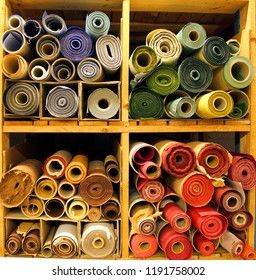 Different types and color of colored bookcloth. Bookcloth is a basic bookbinding material