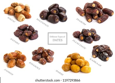 Different types of Dates Piled without Name