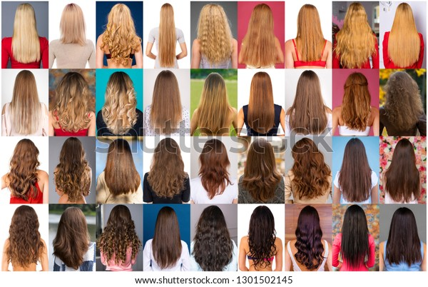 Different Types Female Hair Style Stock Photo Edit Now 1301502145