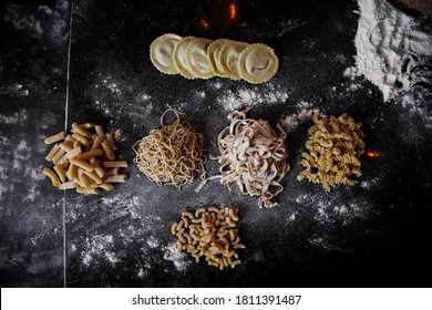 Different types of home made pasta