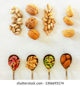 Different Types Nuts Seeds Full Source Stock Photo (Edit Now