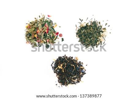 Different Types Tea White Tea Black Stock Photo Edit Now 137389877