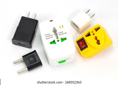 different universal adapters Travel adapters isolated