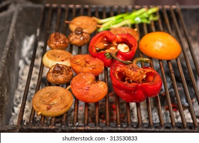 Different vegetables on the grill