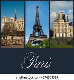 different vieuw of Paris collage