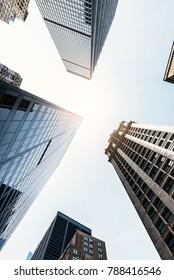 Different view of skyscraper- New York Concept.