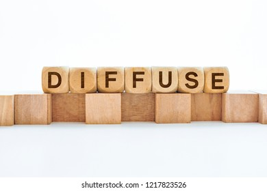 Diffuse word on wooden cubes