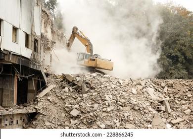 Digger Demolishing