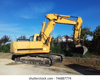 Digging in construction site