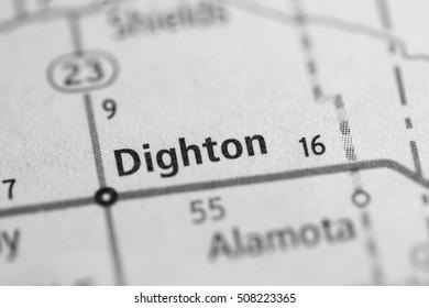 Dighton. Kansas. USA.