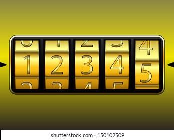 digit locker, abstract art illustration