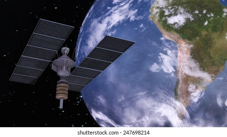 Digital 3D Illustration of a Satellite, Elements of this image furnished by NASA
