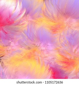 Digital abstract background in yellow, lilac and pink colors.