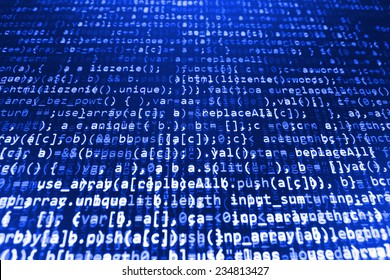 Digital abstract bits data stream, cyber pattern digital background. Blue color. Selective focus (MORE SIMILAR IN MY GALLERY)