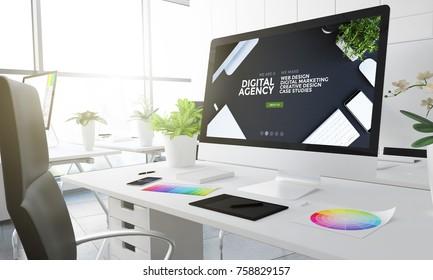 digital agency design studio 3d rendering