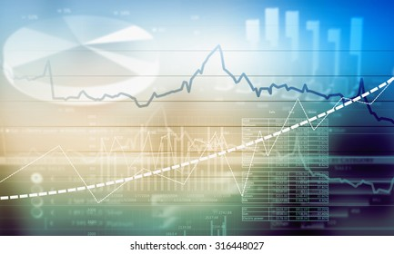 Digital background image with diagrams and graphs