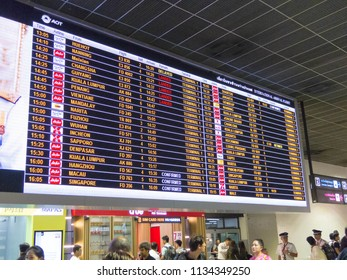 12b3baf86370 Digital billboard Don Mueang Airport Bangkok THAILAND - July 13 2018 Don  Mueang Airport on