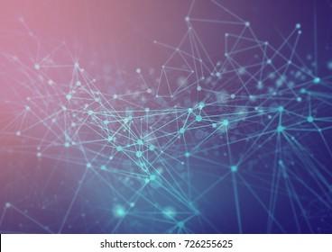 digital blue green abstract illustration web network digital