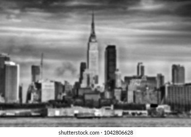 Digital blurred defocused Black and White High Contrast background from NYC, New York City