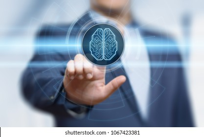 Digital Brain Artificial intelligence AI machine learning Business Technology Internet Network Concept.
