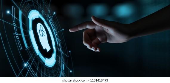 Digital Brain Artificial intelligence AI machine learning Business Technology Internet Network Concept.