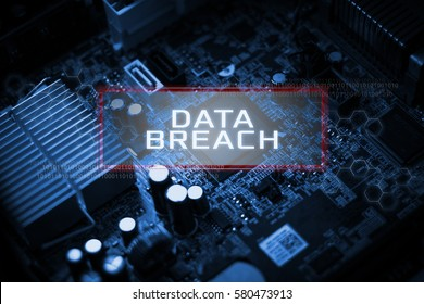 Digital Business and Technology concept, Virtual screen showing DATA BREACH.
