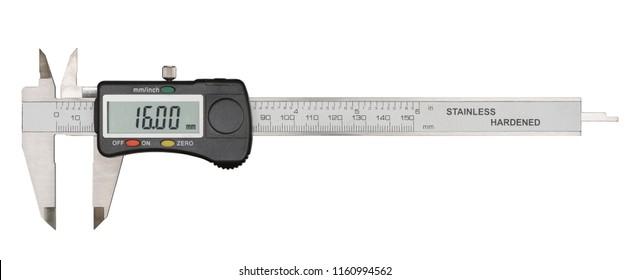 Digital caliper isolated on white background