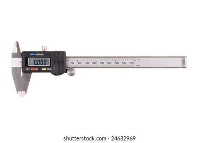 Digital caliper isolated on white