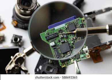 Digital camera disassembly picture